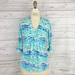 Lilly Pulitzer Costa Tunic Printed beach top